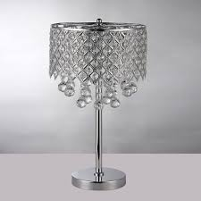 full size of lighting dazzling bedside chandelier lamps 18 lovely crystal table lamp new chrome round