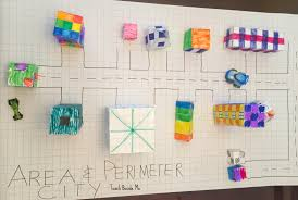 Area And Perimeter City On Graph Paper Teach Beside Me