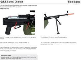 manual for pkm hmg airsoft aeg instruction page 4