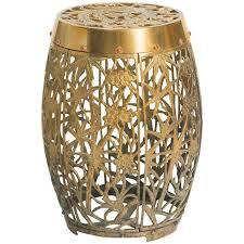 asian brass garden stool for
