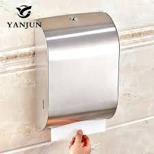 wall mounted stainless steel toilet paper holder c fold or towel dispensers dispenser