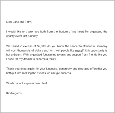 Thank You Letter For Food Donation Sample Thank You Letter For Donation Template Request Food