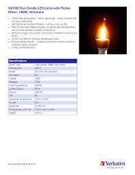 Candle Light Color Temperature Vxrgb True Candle Led Lamp With Flicker Effect 1900k 50