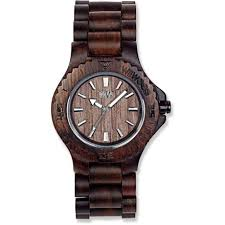 wewood date chocolate recycled wood watch men s rei com