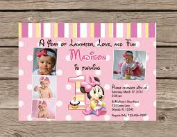birthday invites fascinating minnie mouse 1st birthday invitations design which you need to make birthday