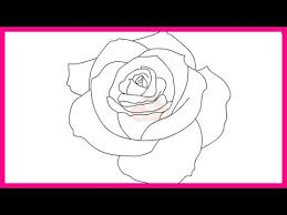 Small Picture How to draw a rose step by step for beginners YouTube