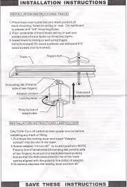 track installation instruction sheet