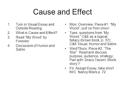cause and effect turn in visual essay and outside reading what  turn in visual essay and outside reading 2 what is
