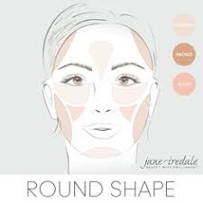 a makeup guide on how to apply highlighter bronzer and blush to a round round face shaperound