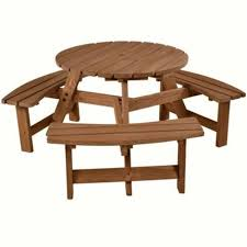 brackenstyle bwood 6 seat round picnic table dining table bench with storage