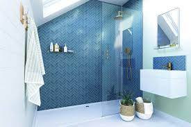 paint tiles and wallpaper for bathroom