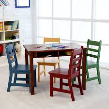 lipper childrens walnut rectangle table and  chairs  hayneedle