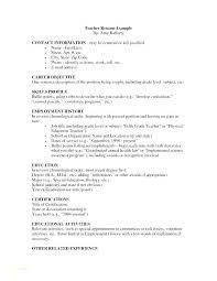 Resume For Special Education Teacher Nfcnbarroom Com