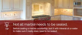 what to use for sealing a marble countertop