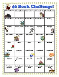 40 Book Challenge Cute Chart With Pictures 40 Book