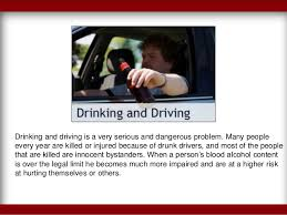the harmful effects of drinking and driving drinking
