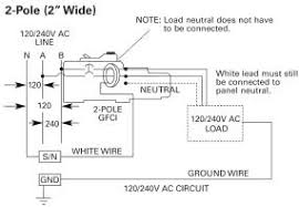 siemens qf amp pole volt ground fault circuit double pole gfci wiring diagram