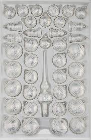 39 Tlg Glas Weihnachtskugeln Set In Ice Weiss Silber Komet Christbaumkugeln Weihnachtsschmuck Christbaumschmuck