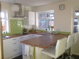 White Oak Kitchen Houston Finished Kitchen Wickes Houston With Colmar Oak Work Tops Ikea