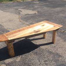 Tapered Coffee Table Legs Pallet Coffee Table With Tapered Top Pallet Furniture