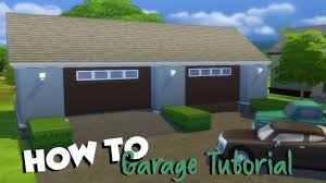 the sims 4 how to garage tutorial