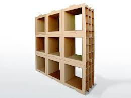Modular Shelving System Made From Recycled Cardboard. Design
