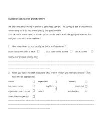 Survey Template Doc Survey Questionnaire Template