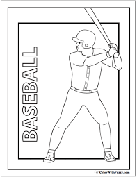 Small Picture Baseball Coloring Pages Customize And Print PDF