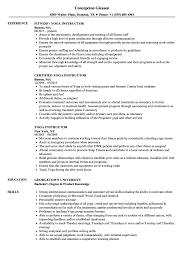 Yoga Instructor Resume Samples Velvet Jobs