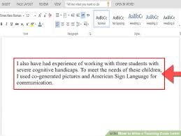 Sign Cover Letter How To Write A Teaching Cover Letter With Pictures Wikihow