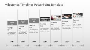 Milestones Timeline Powerpoint Template Slidemodel