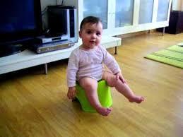 Baby Sitting On Baby Toilet Making Pipi Youtube