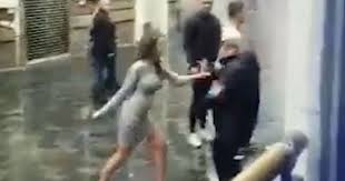 Woman What The Hitting Video Face In Shows A Shocking Bouncer Are Zqa7w6Wp