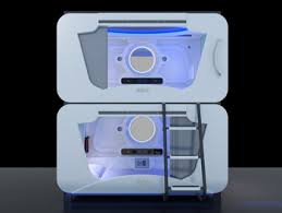 Fashionable and modern Kids Bunk Bed Space Capsule bed