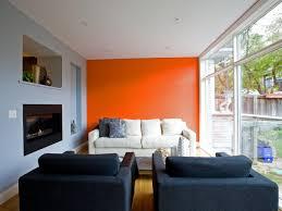 ... Home Decor Original Capoferro Design Build Group Orange Accent Wall  Walls Inng Room With Molding Black ...