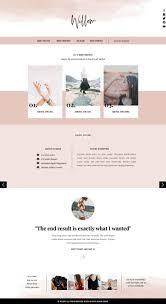 Pink Website Design Fashion Website Template For Showit Platform Web Design
