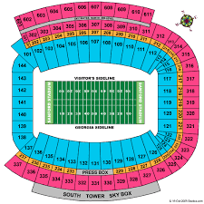 Sanford Stadium Seating Chart Sanford Stadium Athens