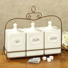 square canister set accessories for kitchen decoration using square triple white ivory glass modern kitchen canister