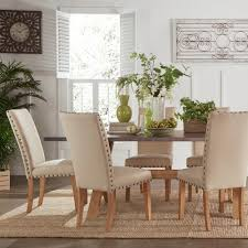 Aberdeen Industrial Zinc Top Weathered Oak Trestle 7-piece Dining Set by  iNSPIRE Q Artisan by iNSPIRE Q