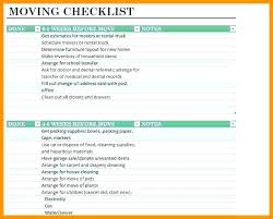 5 Moving Checklist Template Word Labels Furniture Inventory List