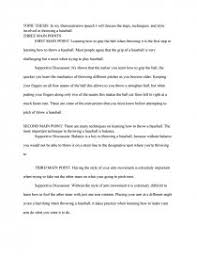 demonstrative speech on baseball essay similar essays