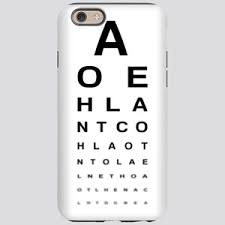 Eye Test Chart For Phone Snellen Chart Iphone Cases Cafepress