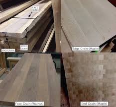 one thing to consider with a butcherblock is which type of grain you would like for the surface of the countertop there are three diffe options face