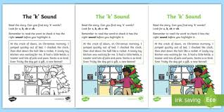 Phonics worksheets by level, preschool reading worksheets, kindergarten reading worksheets, 1st grade reading worksheets, 2nd grade reading wroksheets. Linguistic Phonics Stage 5 And 6 Phase 3b K Sound Worksheet Worksheet