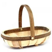 rainbow oval wooden trug basket natural brown 25cm in kenya