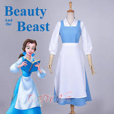 Belle Blue Dress Pattern Extraordinary Cafiona 48 New Beauty And The Beast Belle Cosplay Costume Women