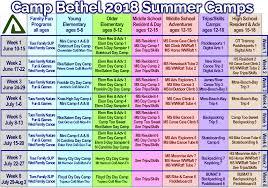 Summer Camp Weekly Schedule Summer Campbethelvirginia Org