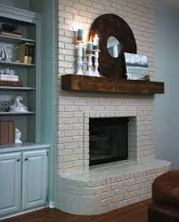 painted white brick fireplaceElegant Brick Fireplaces Painted White Ideas  Home Fireplaces