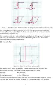 Gravity Retaining Wall Design Calculations Worked Example 2 Version 1 Design Of Concrete Cantilever