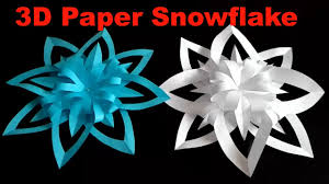 paper snowflakes 3d 3d paper snowflake how to make a 3d paper snowflake step by step